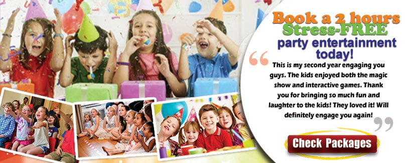kids birthday party packages and testomonials