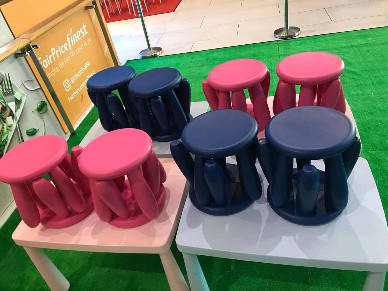 table chairs rental jellybean party