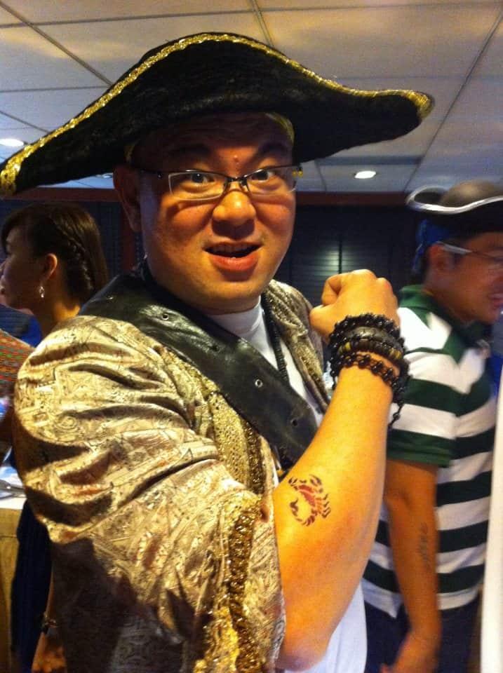 Air Brush Tattoo Pirate