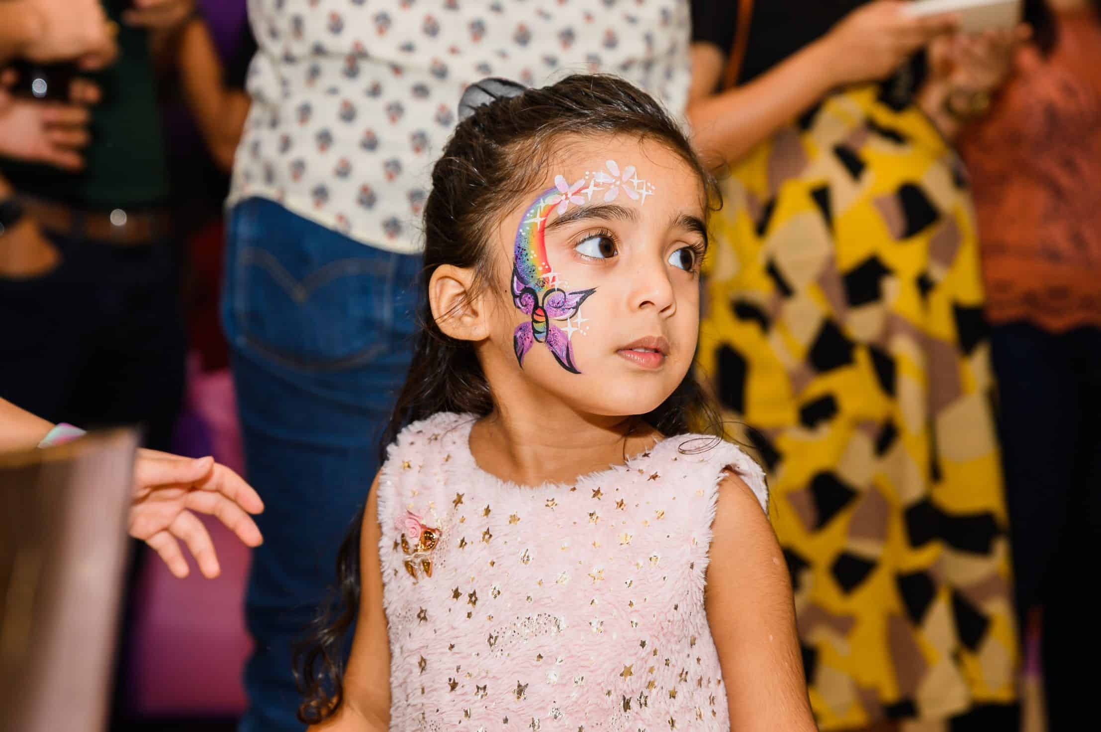 face painting on girl singapore