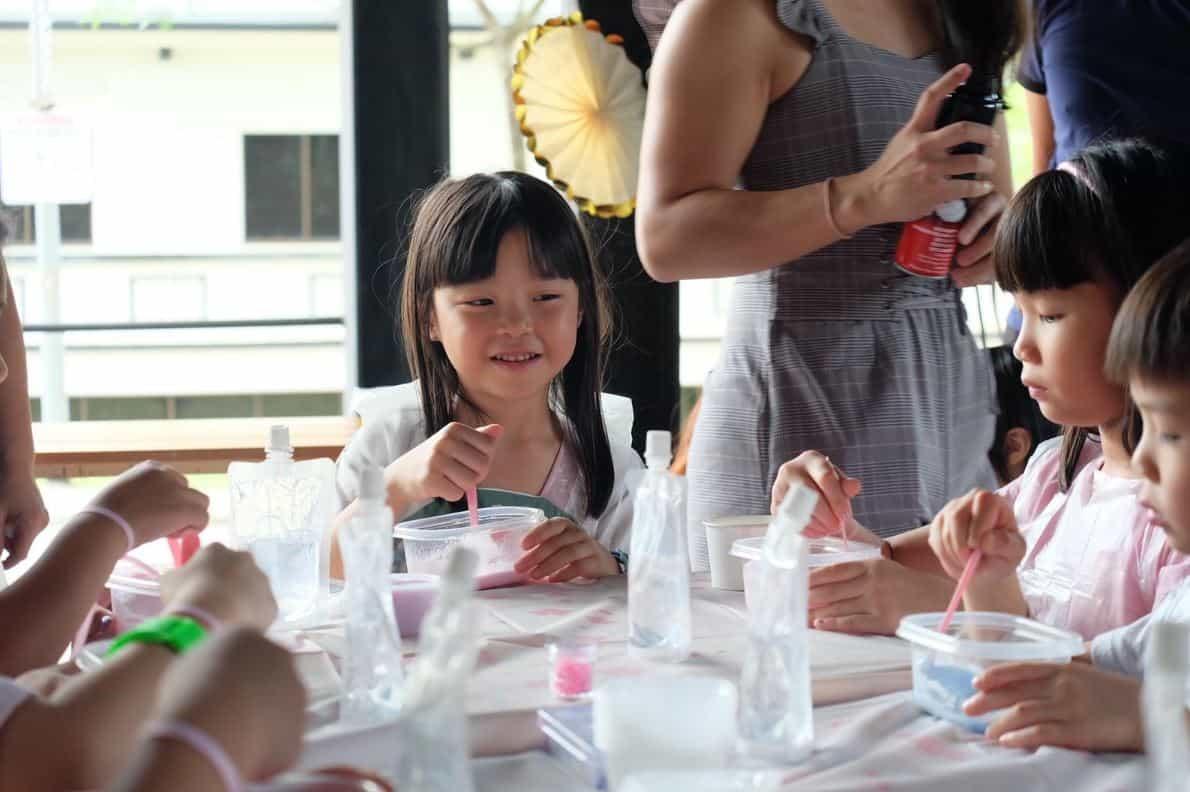 Princess having fun at Slime Party