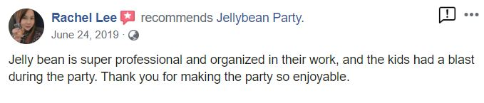Jellybean party facebook review