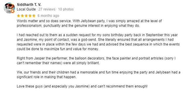 Jellybean Party Kids Party Review